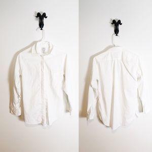 Aritzia Talula White Oxford Shirt Boyfriend Fit